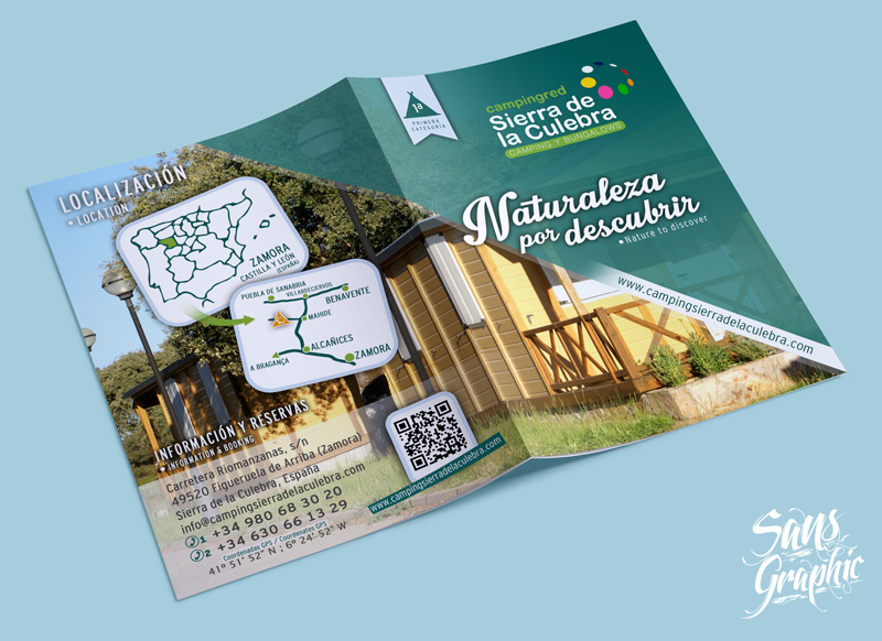 Diptico Camping Sierra De La Culebra Sans Graphic