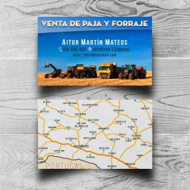 Tarjetas Venta de Paja y Forraje