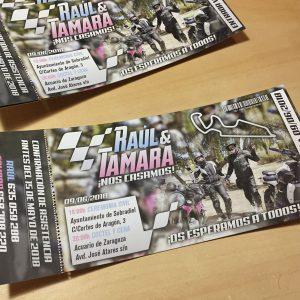 Invitaciones de boda motos