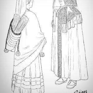 Ilustración Capas Mirandesas