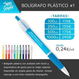 Bolígrafo plástico #1